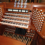 The new organ console