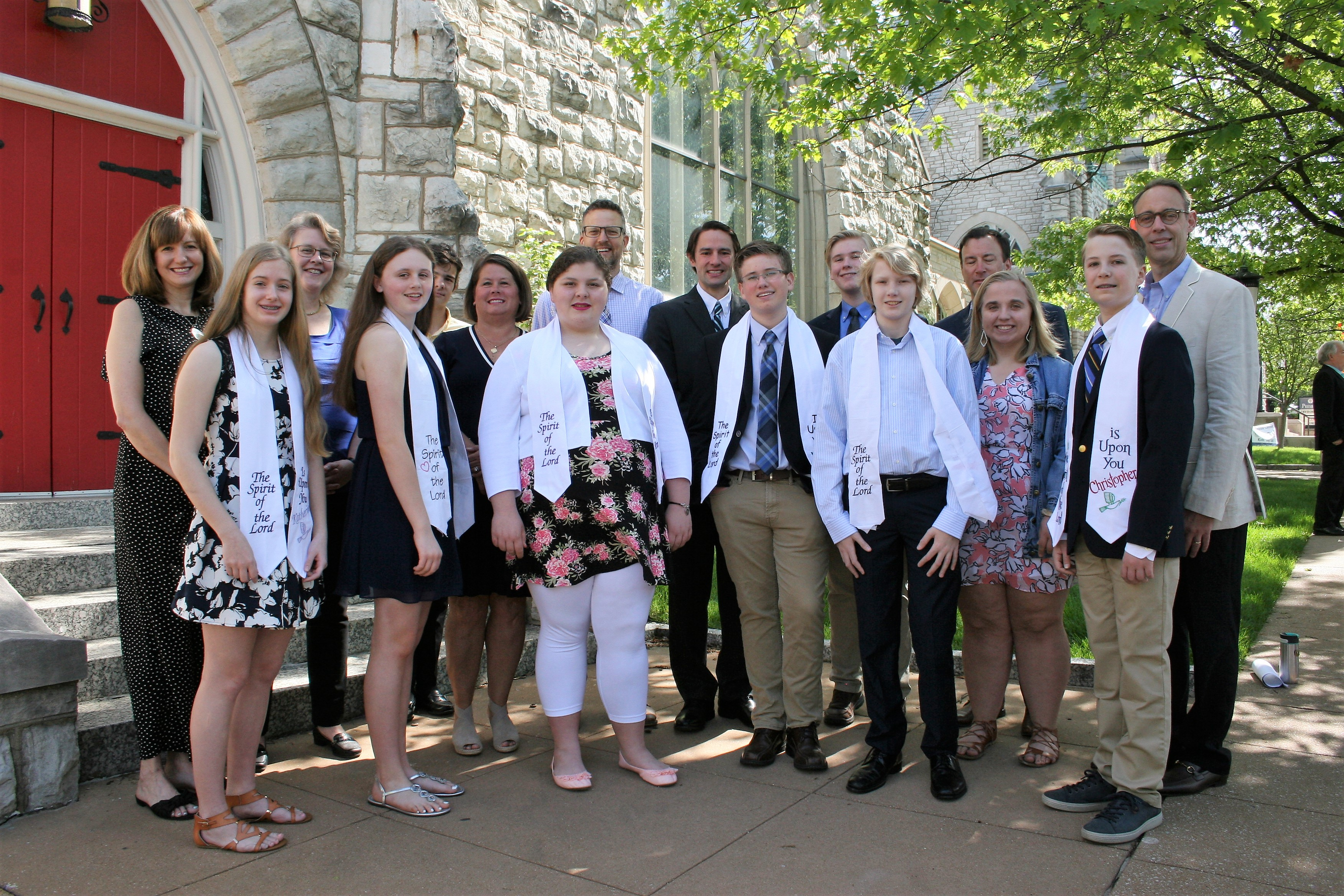 2019 Confirmation Class with Mentors